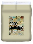 Good Morning Coffee Collage 9x12 Duvet Cover