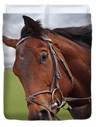 Good Morning - Racehorse On The Gallops Duvet Cover