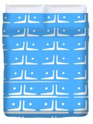 Up Tempo In Baby Blueberry Duvet Cover