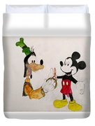 Goofy And Mickey Duvet Cover