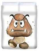 Goomba Watercolor Duvet Cover