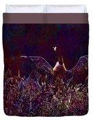 Goose Bird Wildlife Nature Fly  Duvet Cover