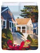 Goose Creek Beach Cottages Duvet Cover