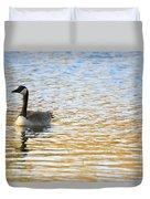 Goose On The Pond Duvet Cover