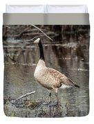 Goose Posing Duvet Cover