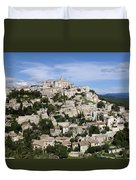 Gordes Provence France Duvet Cover