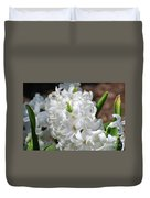 Goregeous White Flowering Hyacinth Blossom Duvet Cover