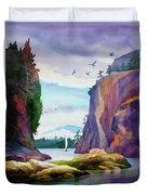 Gorge Entrance View Duvet Cover