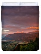 Gorge Sunset Duvet Cover