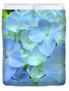Gorgeous Blue Colorful Floral Art Hydrangea Flowers Baslee Troutman Duvet Cover