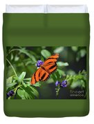 Gorgeous Close Up Of An Oak Tiger Butterfly In Nature Duvet Cover