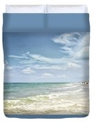 Gorgeous Day At The Seashore Duvet Cover