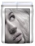 Gorgeous Girl With Sugar On Her Lips Duvet Cover