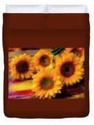 Gorgeous Lovely Sunflowers Duvet Cover