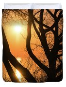 Gorgeous Morning Through The Tree Screen Duvet Cover