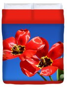 Gorgeous Red Tulips. Duvet Cover