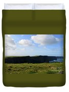 Gorgeous Seascape Along The Cliffs Of Moher In Ireland Duvet Cover