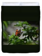 Gorgeous View Of An Oak Tiger Butterfly In The Spring Duvet Cover