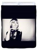 Gorgeous Woman Portrait Duvet Cover