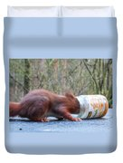 Gorging Squirrel Duvet Cover