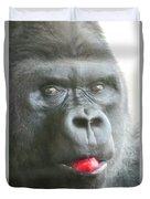 Gorilla Loves Jello Duvet Cover