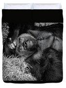 Gorilla Pose Duvet Cover