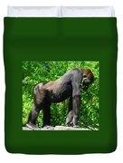 Gorilla Posing Duvet Cover