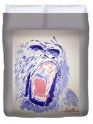 Gorilla Roars Duvet Cover
