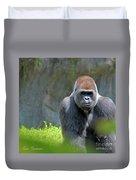 Gorilla Stare Duvet Cover