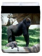 Gorillas Mary Joe Baby And Emonty Mother 6 Duvet Cover