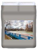 Gorky Park In Winter Duvet Cover