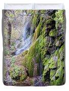 Gorman Falls At Colorado State Park II - San Saba Texas Hill Country Duvet Cover