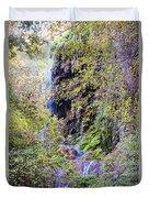 Gorman Falls At Colorado State Park IIi - San Saba Texas Hill Country Duvet Cover