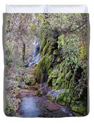 Gorman Falls At Colorado State Park - San Saba Texas Hill Country Duvet Cover