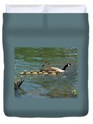 Goslings In A Row Duvet Cover