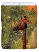 Gossiping Giraffe Duvet Cover