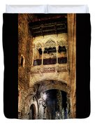 Gothic Bridge At Night In Barcelona 2 Duvet Cover