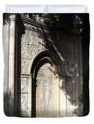 Gothic Darkness. Old Gate Duvet Cover