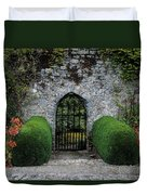 Gothic Entrance Gate, Walled Garden Duvet Cover