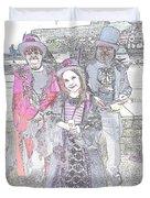 Gothic Ice Cream Girl Duvet Cover