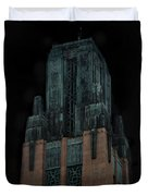 Gothic Night. Architecture Of Los Angeles Duvet Cover