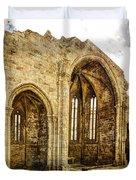 Gothic Temple Ruins - San Domingos - Vintage Version Duvet Cover