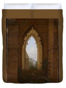 Gothic Windows In The Ruins Of The Monastery At Oybin Duvet Cover