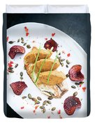 Gourmet Fish Fillet With Chickpea Curry Puree Meal Duvet Cover
