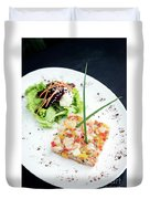 Gourmet Raw Tuna Tartare Ceviche With Mango Lime And Chilli Duvet Cover