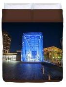 Goverment Center Boston Ma In Blue City Hall Duvet Cover