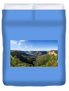 Govetts Leap Lookout Panorama, Australia Duvet Cover