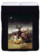 Goya: Witches Sabbath Duvet Cover