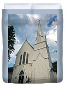 Grace In The White Mountains Duvet Cover