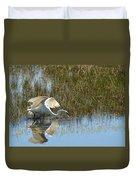Graceful Great Egret Duvet Cover